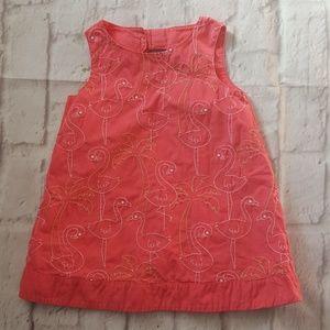 Gymboree Dress Flamingo Palm Beach Paradise